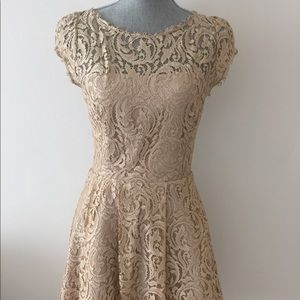 Dresses & Skirts - ABS Champagne Colored Lace Dress
